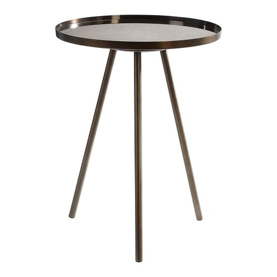 Cordue Glass Side Table Round In Black Iron Finish_1
