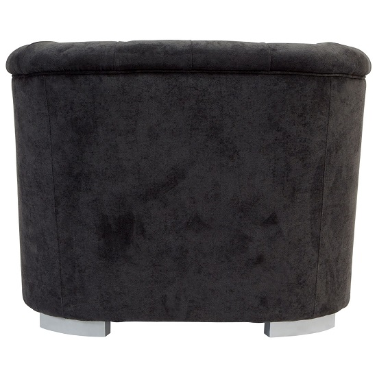 Corelli Fabric Armchair In Black With Wooden Feet_4