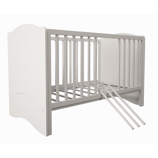 Corfu Wooden Childrens Cot Bed In White_2
