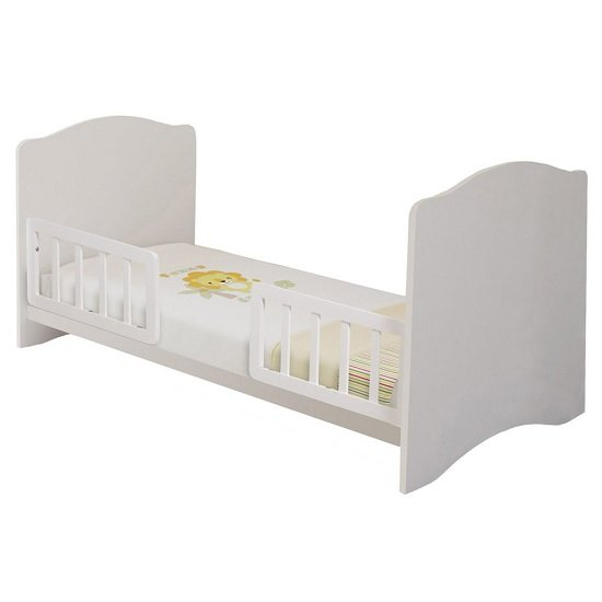 Corfu Wooden Childrens Cot Bed In White_3