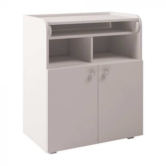 Corfu Storage Cupboard With Changing Top In White
