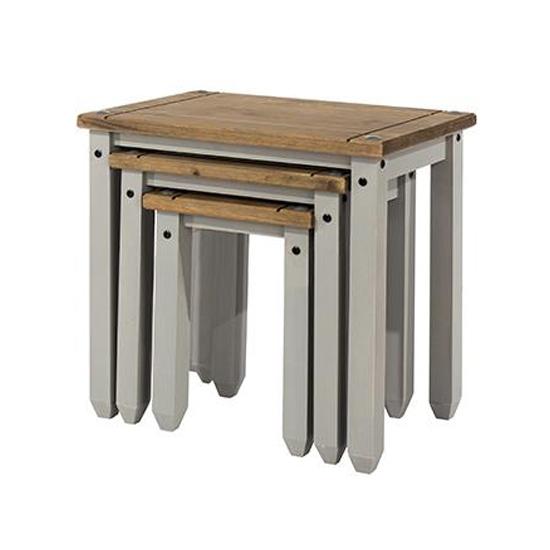 Corina Set Of 2 Nesting Tables In Grey
