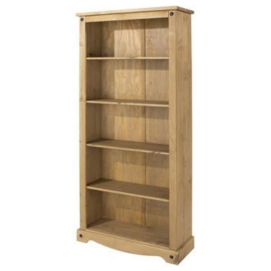 Corina Tall Bookcase In Antique Wax Finish