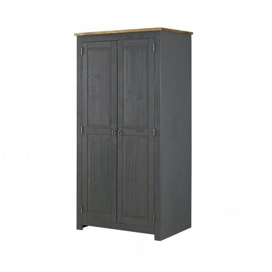 Corina Wardrobe In Carbon Grey Finish With Two Doors