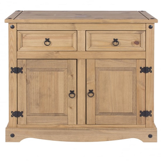 Corina Wooden Small Sideboard In Antique Wax Finish_3