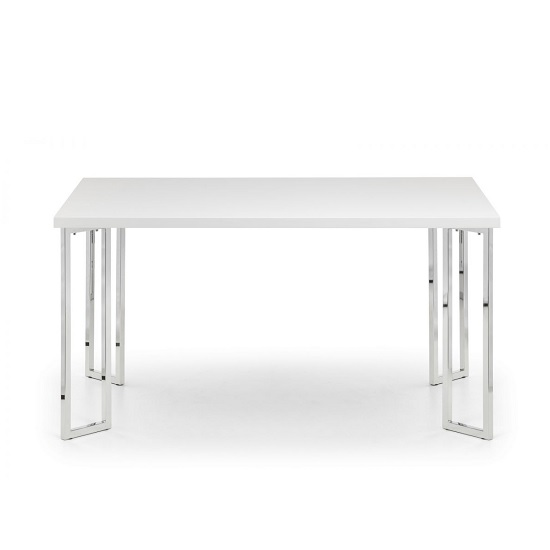 Cormac Dining Table Rectangular In White High Gloss