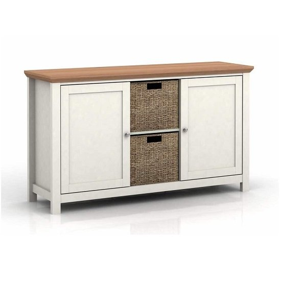 Cornet Wooden Sideboard In Cream And Oak Finish