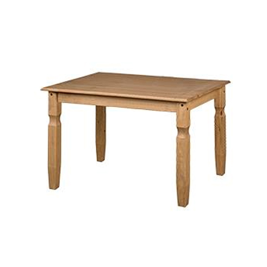 Corina Wooden Dining Table In Oak With Shaped Legs