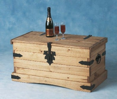 Read more about Corona wooden coffee table and storage chest drawers