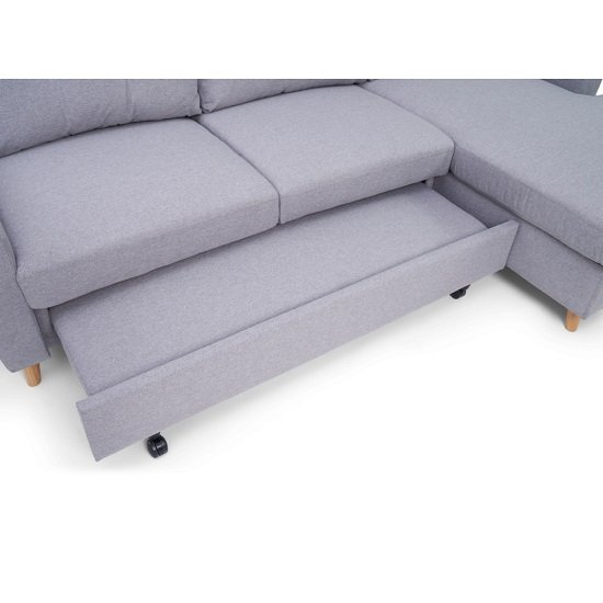 Correen Linen Right Hand Facing Chaise Sofa Bed In Grey_5
