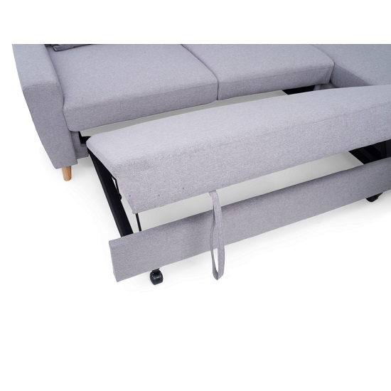 Correen Linen Right Hand Facing Chaise Sofa Bed In Grey_6
