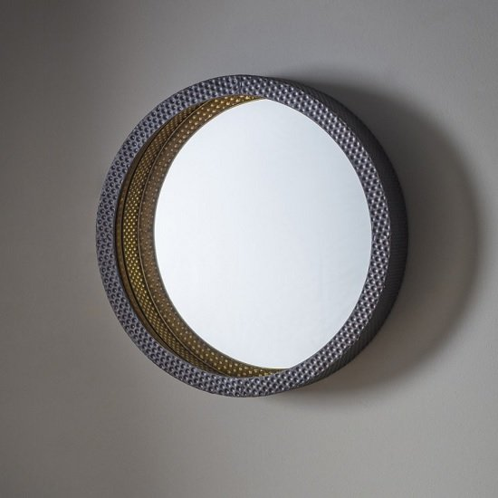 Corrick Wall Mirror Round In Hammered Effect