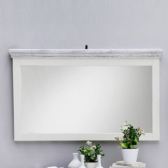 Corrin Wooden Large Wall Mirror Rectangular In White_2