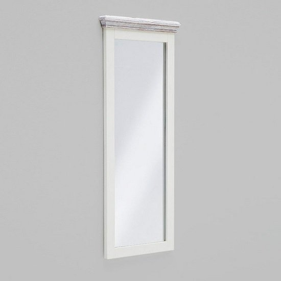 Corrin Wooden Tall Wall Mirror Rectangular In White