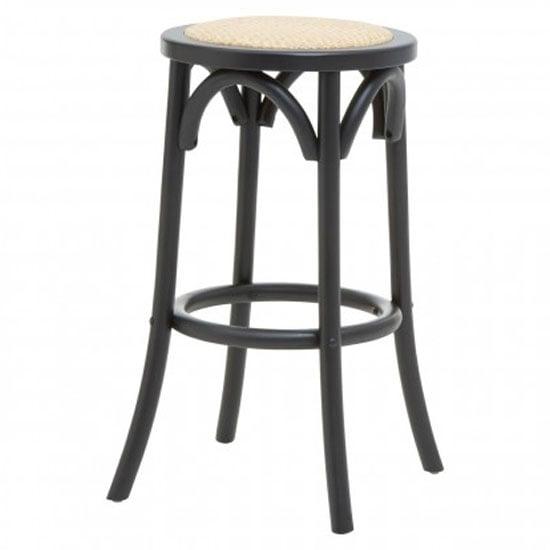 View Corson cane rattan stool in black