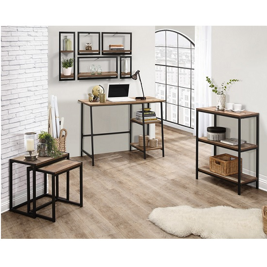 Coruna Wooden Computer Desk In Rustic And Metal Frame_3