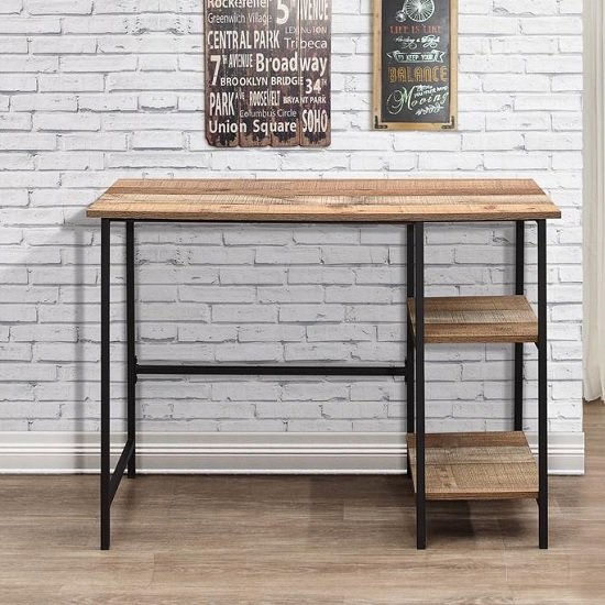 Coruna Wooden Computer Desk In Rustic And Metal Frame_2
