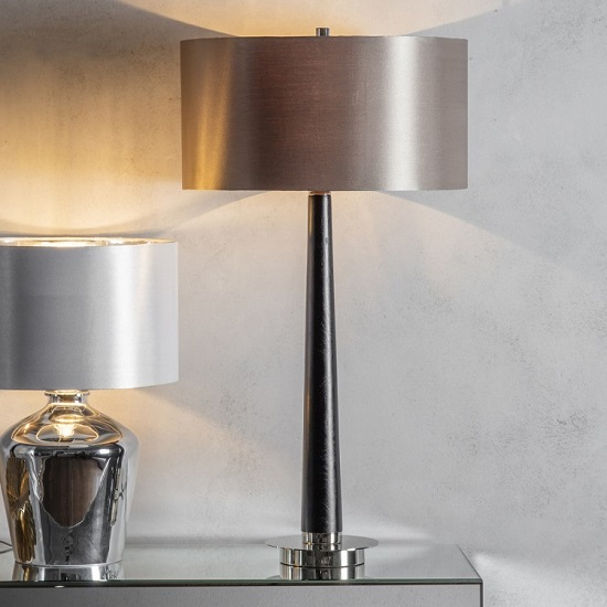 Corvina Table Lamp With Drum Shape Shade