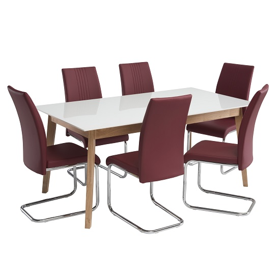 Red leather dining room chairs shop for cheap tables and for Red dining room chairs