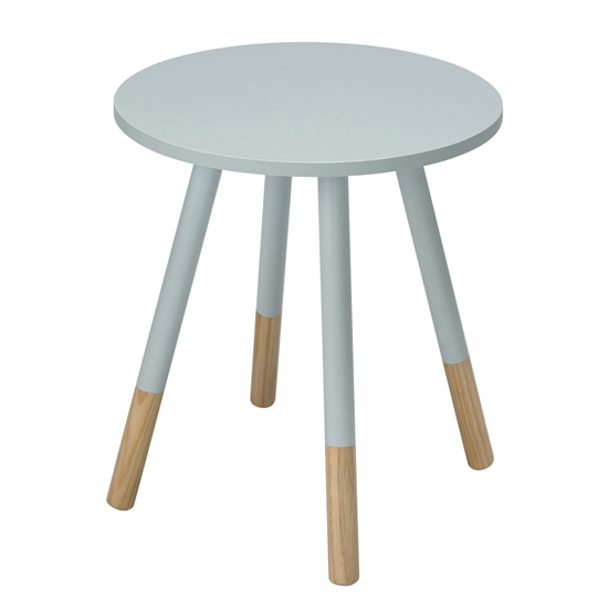 Costa Wooden Side Table In Blue