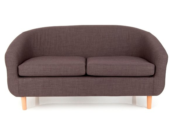 Cotham 2 Seater Fabric Sofa In Linen Effect Charcoal
