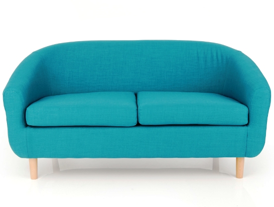 Cotham 2 Seater Fabric Sofa In Linen Effect Teal