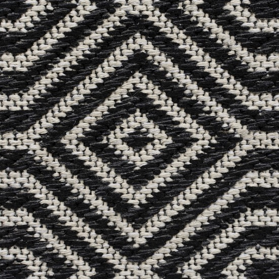 Cotone Pappel Black And Cream Finish Rug_4