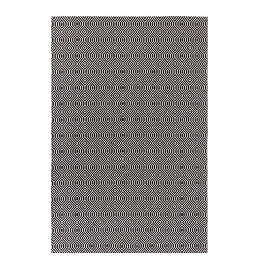Cotone Pappel Black And Cream Finish Rug_5