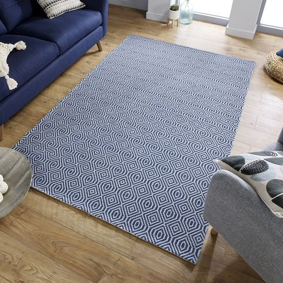 Cotone Pappel Blue Finish Rug