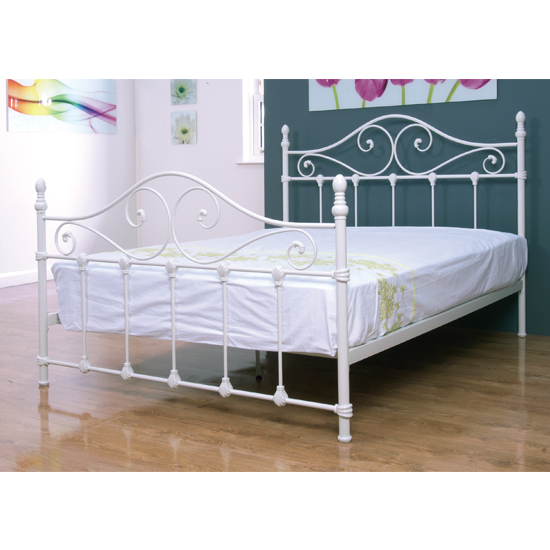 Cotswold Metal King Size Bed In Ivory