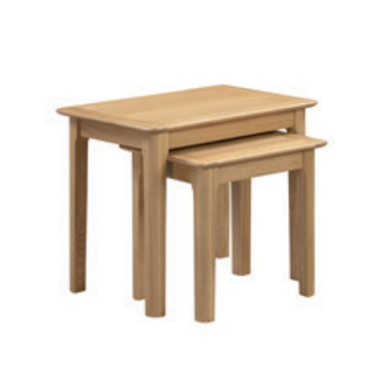 Cotswold Wooden Set Of 2 Nesting Tables In Oak_1