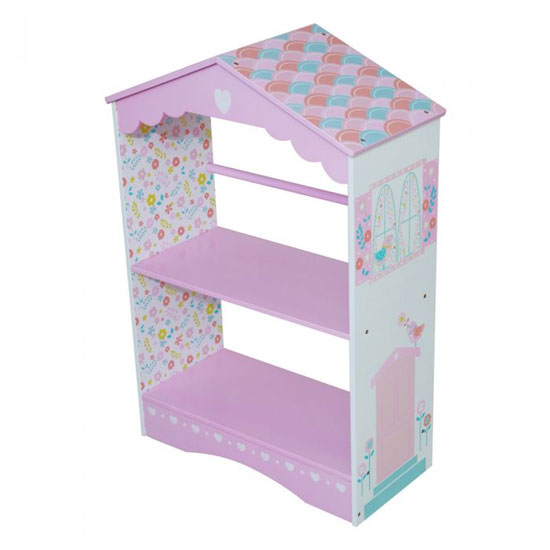 Country Cottage Kids Bookcase In Pink And White_2