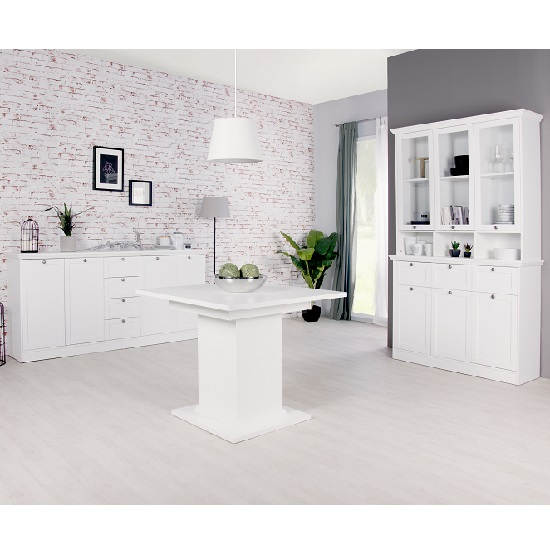 Country Sideboard In White With 4 Doors And 4 Drawers_6