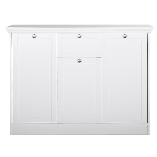 Country Sideboard In White With 3 Doors And 1 Drawer_3