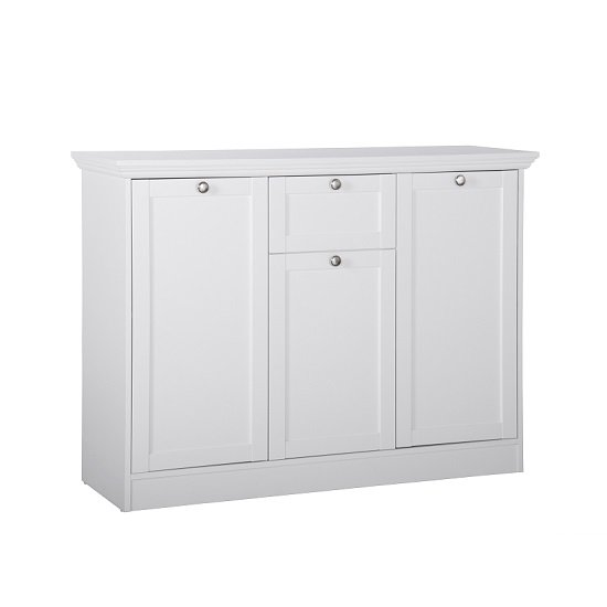 Country Sideboard In White With 3 Doors And 1 Drawer_2