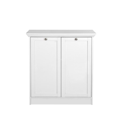 Country Storage Cabinet In White With 2 Doors_2