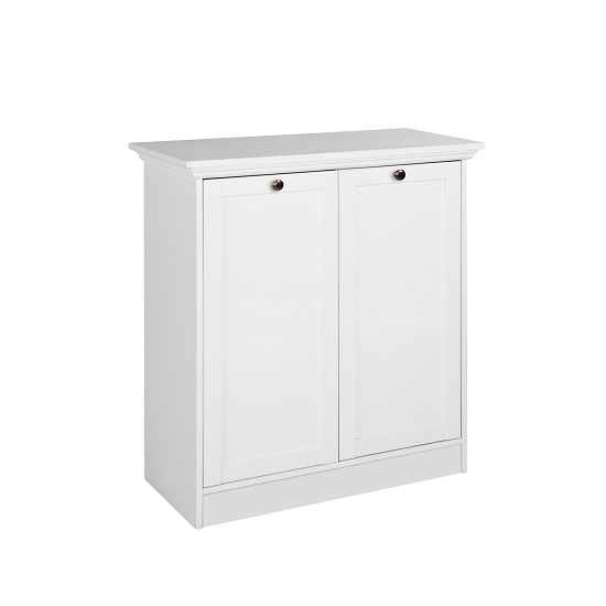 Country Storage Cabinet In White With 2 Doors_3