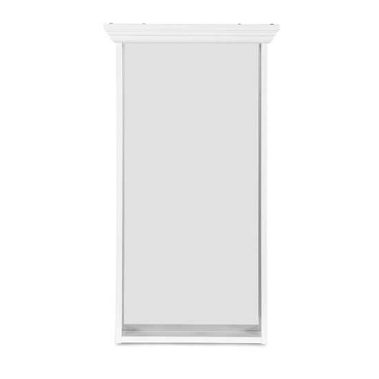 Country Wall Mirror Rectangular In White_2