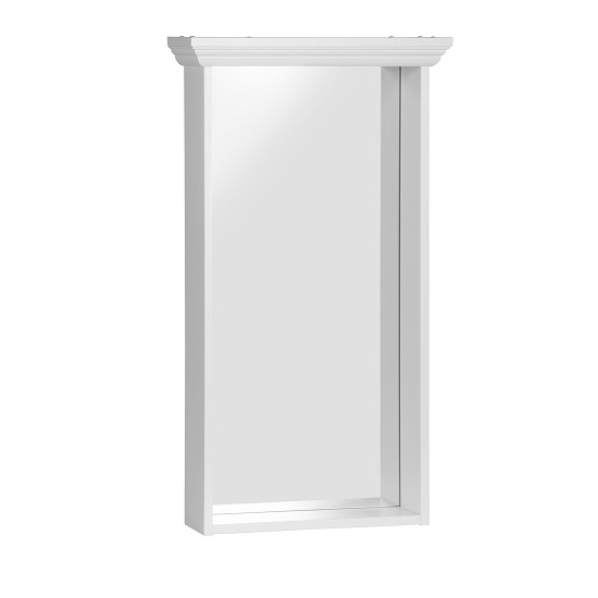 Country Wall Mirror Rectangular In White_3