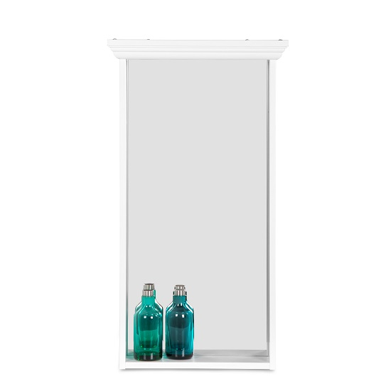 Country Wall Mirror Rectangular In White_4
