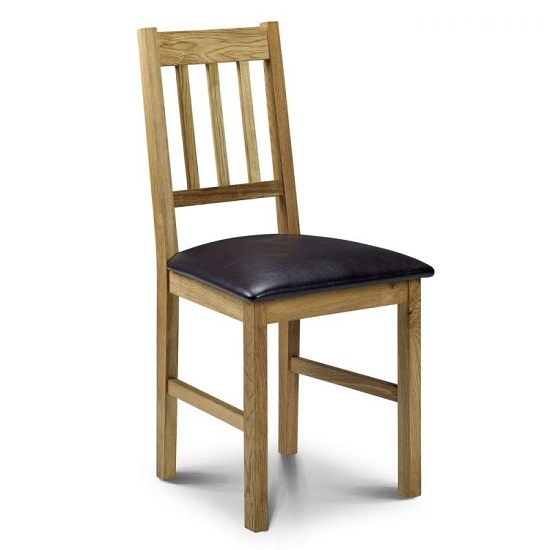Coxmoor Dining Chair In Oiled Oak Finish With Brown Seat