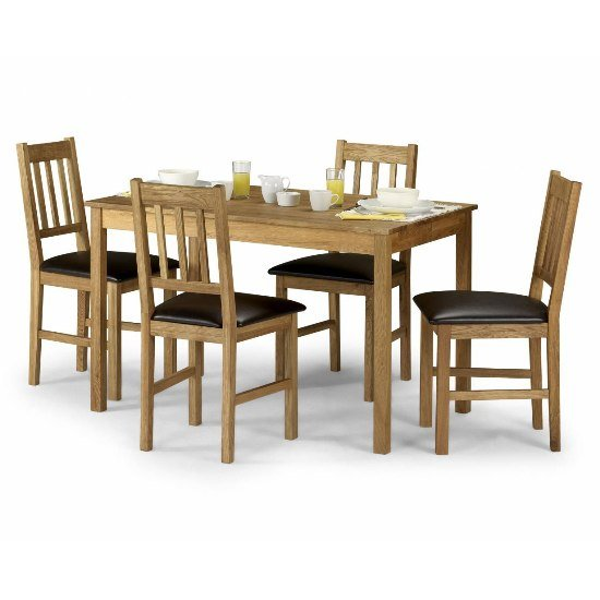 Coxmoor Solid Oak Dining Set And 4 Chairs 5468 Furniture in : coxmoor solid oak dining set from www.furnitureinfashion.net size 550 x 550 jpeg 40kB