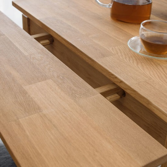 Coxmoor Wooden Extending Dining Table In Oiled Oak Finish_2
