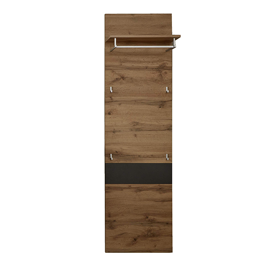 Coyco Wooden Tall Coat Rack In Wotan Oak And Grey_2