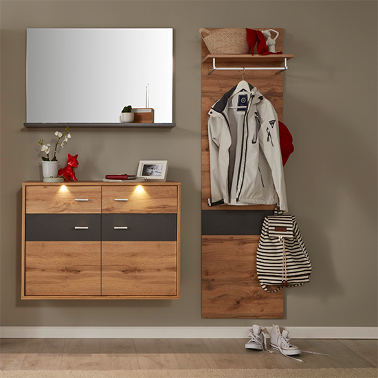 Coyco Wooden Tall Coat Rack In Wotan Oak And Grey_3