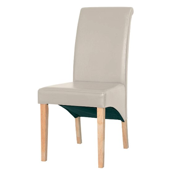 Cream Faux Leather Dining Chair 2402047