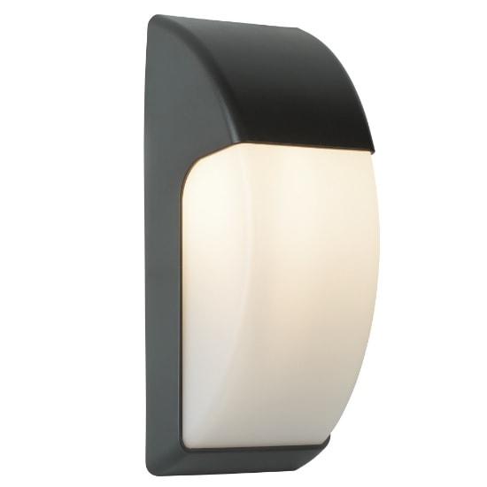 Crescent Outdoor 1 Light Wall Light In Dark Grey