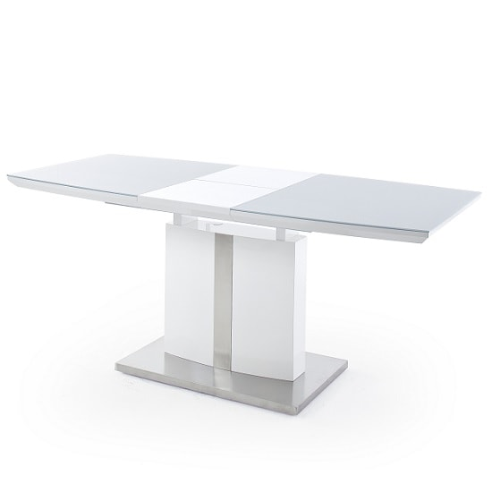 Cresta Extendable Glass Dining Table In High Gloss White_2