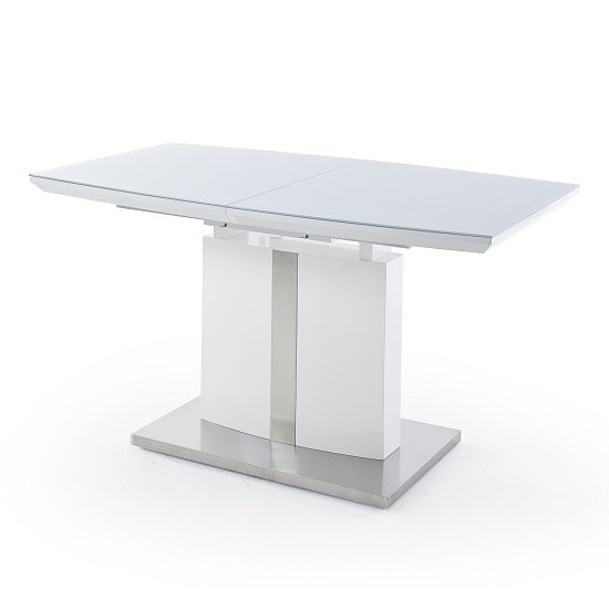 Cresta Extendable Glass Dining Table In High Gloss White_4