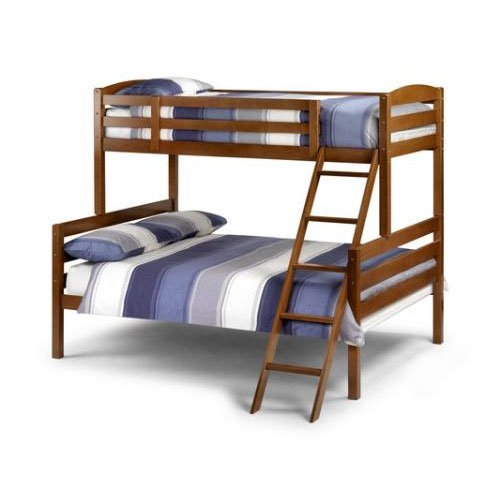 Triple Sleeper Bunk Bed in Cherry Finished Hardwood